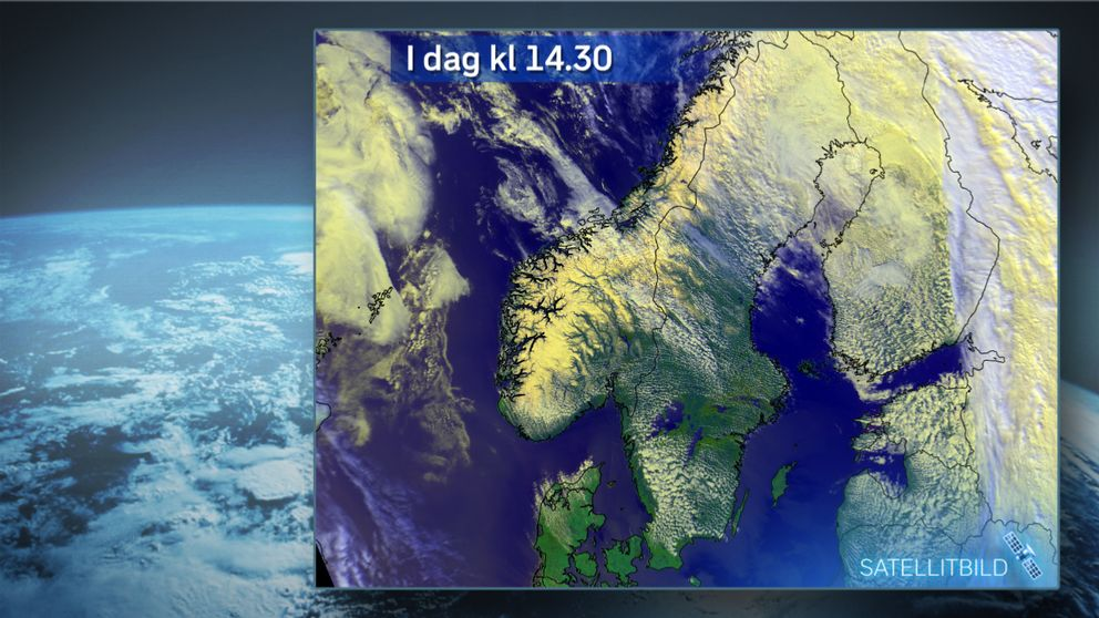 Satellitbild från i dag (söndag 30 april) kl. 14.31.