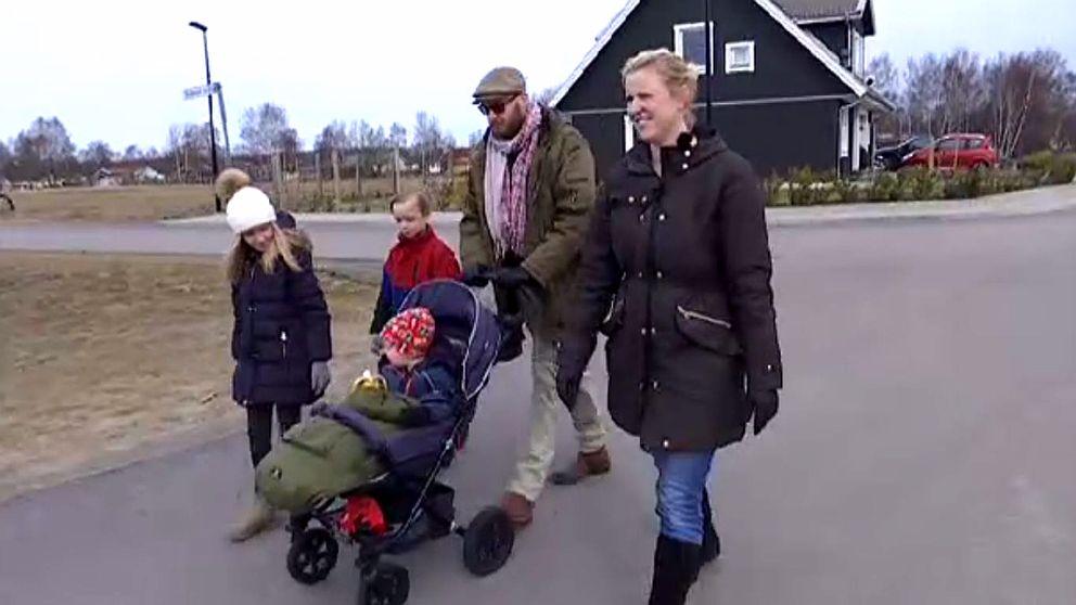 Linda Willman berättar om första tiden på Allarpsområdet, som byggs på Laholmssidan.