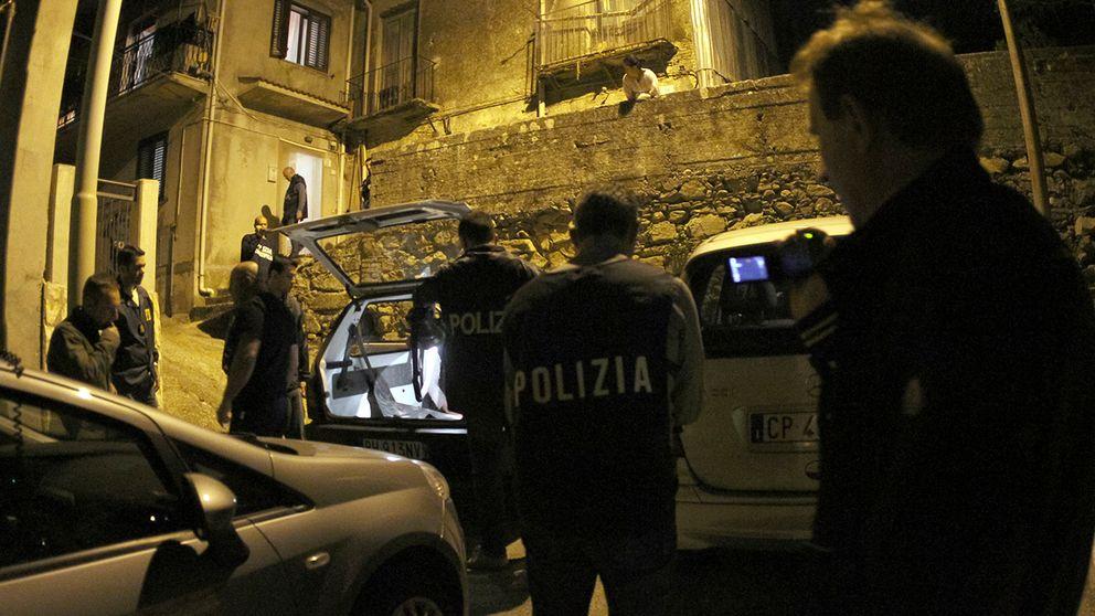 Polis vid en tidigare razzia mot 'Ndrangheta