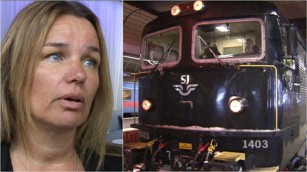Anna Caren Sätherberg (S) riksdagsledamot från Åre och ett nattåg