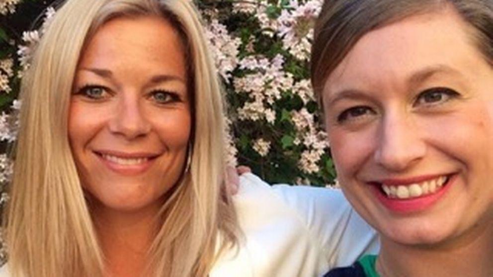 Elin Hallgren och Maj Rydström leg. barnmorskor samt styrelseledamöter i Stockholms barnmorskesällskap