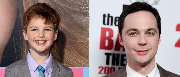 """Iain Armitage spelar 9-årige Sheldon Cooper och även Jim Parsons, som spelar Sheldon Cooper den äldre, kommer att ha ett finger med i den nya serien """"Young Sheldon""""."""
