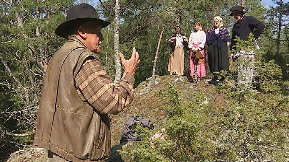 Guiden Sölve Holgersson berättar om häxorna i Finspång