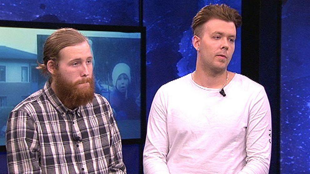 Hör Robin Dahlén och Christian Karlsson berätta i Aktuellt om minnena från förhören