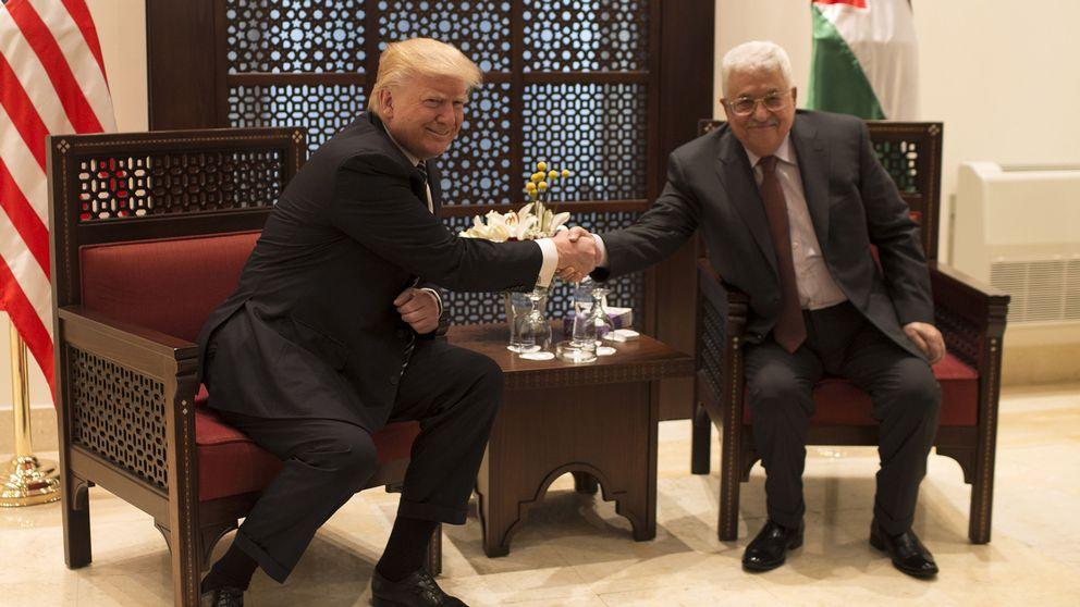 Trump och palestiniernas president Abbas i Betlehem