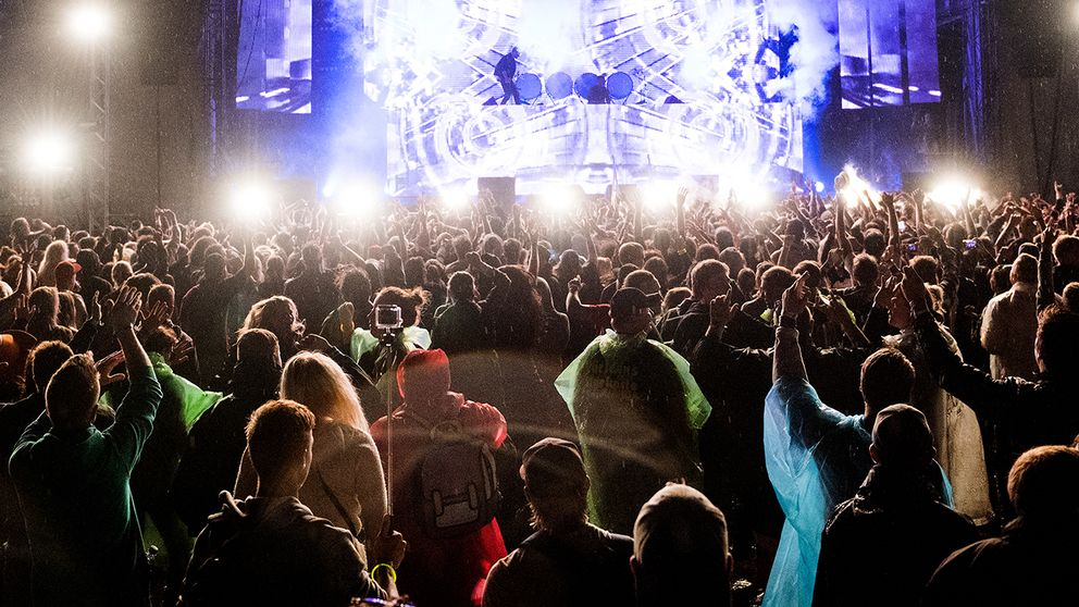 Publik och scen på Bråvallafestivalen 2016