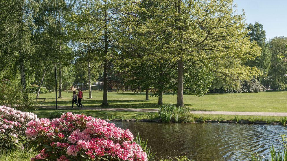 Ljuvligt sommarväder i Ronneby i Blekinge den 27 maj.