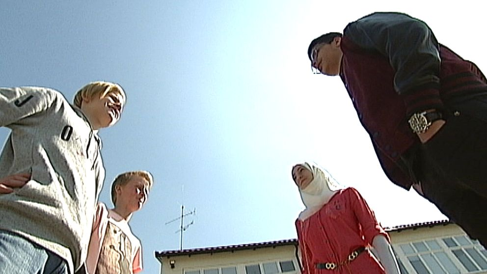 Emil Bengtsson, Albin Alfredsson, Amenah Alyousef och Alamin Abdullah.