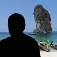 Siluett av en man i Thailand.