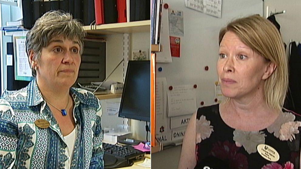 Kajsa Andersson Lundblad, rektor på Skäggetorpsskolan och Charlotta Stjärne, rektor på Ljungsbroskolan