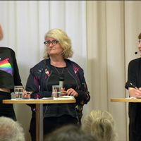Panel diskuterar sociala mediers påverkan på valet 2010.