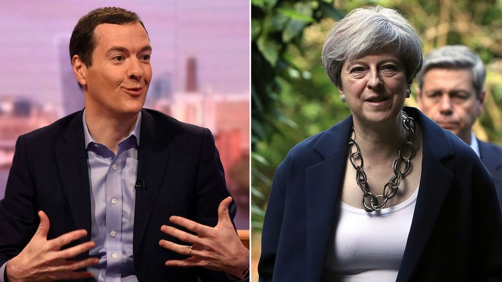 George Osborne och Theresa May
