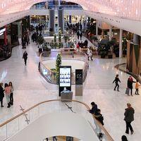 Interiörbild från Mall of Scandinavia i Solna.