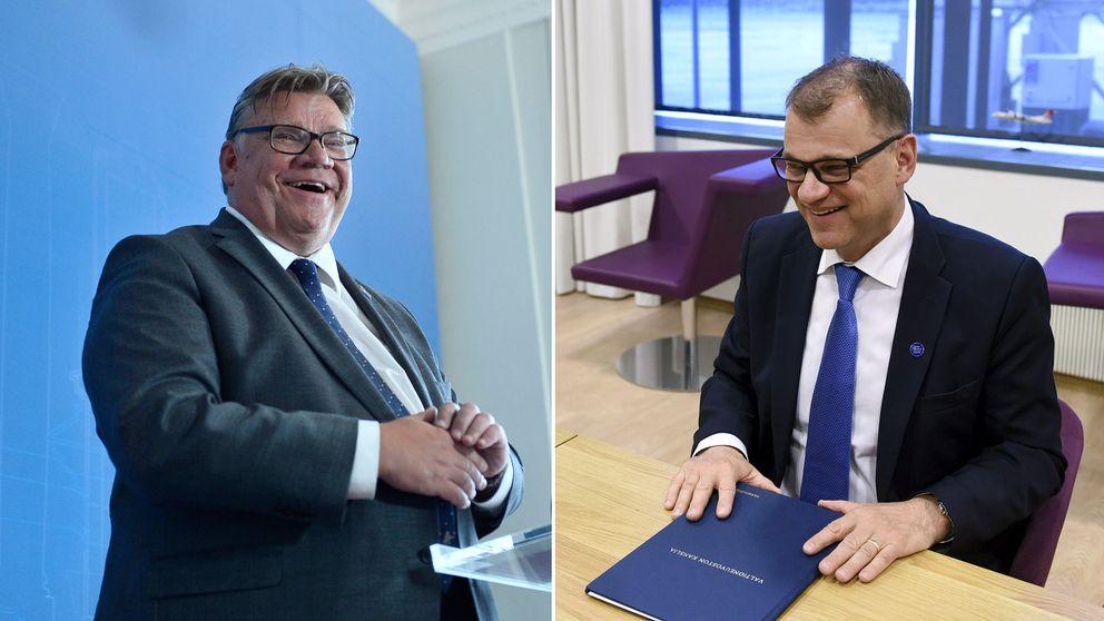 Sannfinländarnas ex-ledare Timo Soini och Finlands statsminister Juha Sipiläs (C).