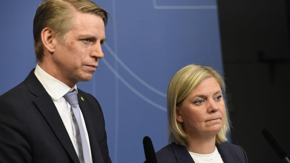 Vice finansminister Per Bolund (MP) och finansminister Magdalena Andersson (S)