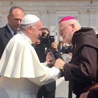 Ärkebiskop Antje Jackelén och Sveriges nya kardinal Anders Arborelius träffade påve Franciskus.