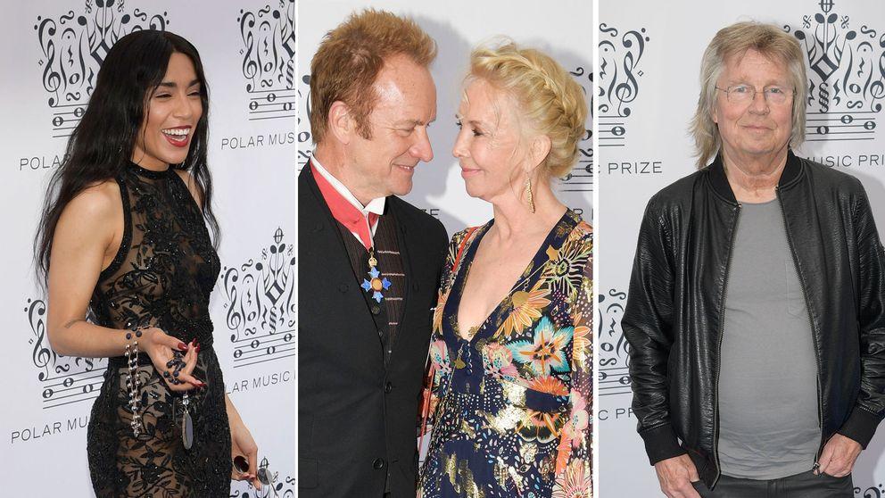 Loreen, Sting och hans hustru Trudie Styler och Janne Schaffer anslöt till Konserthuset för prisceremonin.