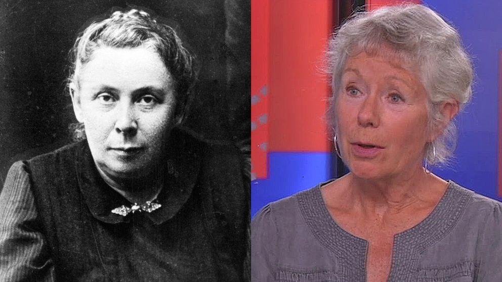Agitatorn Kata Dalström och historikern Gunnela Björk