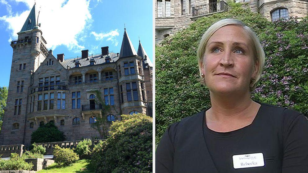 Rebecka Mattsson, slottsfru på Teleborgs slott.