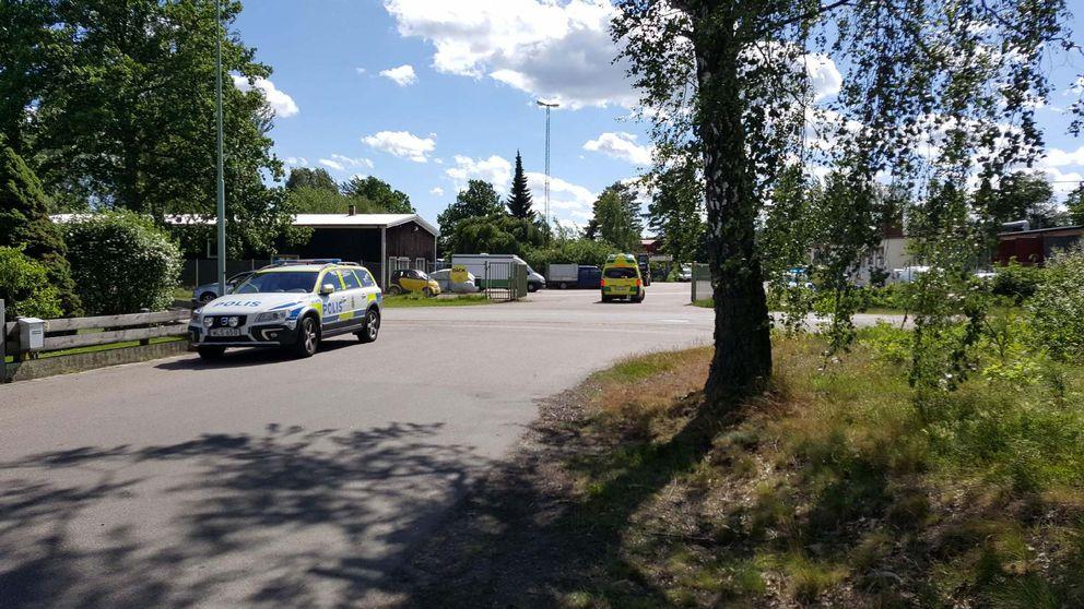En knivskärning inträffade i Nybro på måndagseftermiddagen.
