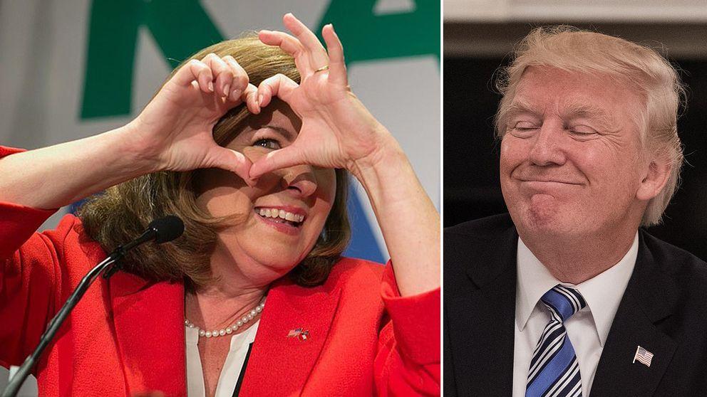 Karen Handel och Donald Trump.