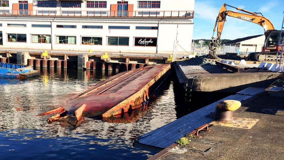 Fartyg har kantrat i Göteborg