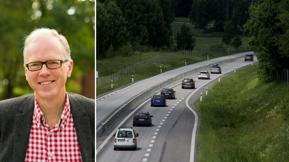 professor alkoholexpert bilar som kör på väg