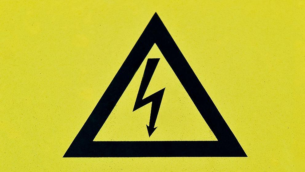 elektricitet varningsskylt
