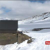 Fortfarande i slutet på juni mycket snö kvar i området Kebnekaise-Abisko
