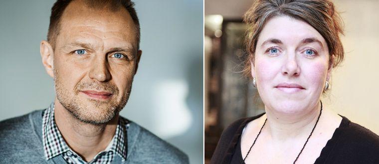 Jonas Nordling, ordförande Journalistförbundet Ulrica Widsell, vice ordförande Journalistförbundet