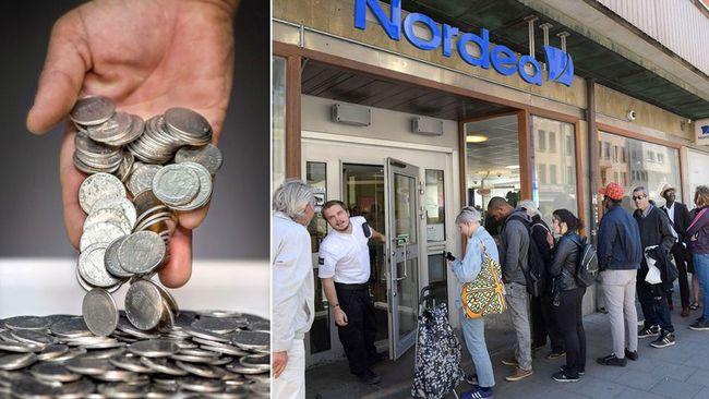 betala med gamla mynt