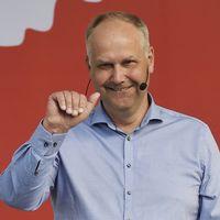 Jonas Sjöstedt, Vänsterpartiets ledare, håller sitt partiledartal i Almedalen