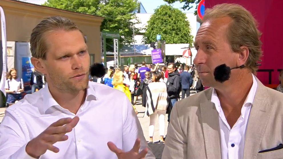 SVT:s team i Mellanöstern, Stefan Åsberg och Niclas Berglund.