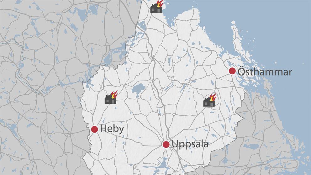 blixtnedslag karta Blixtnedslag – fastighet i brand | SVT Nyheter blixtnedslag karta