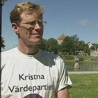 Kristna Värdepartiets partiledare Mats Selander och vice partiledare André Juthe.
