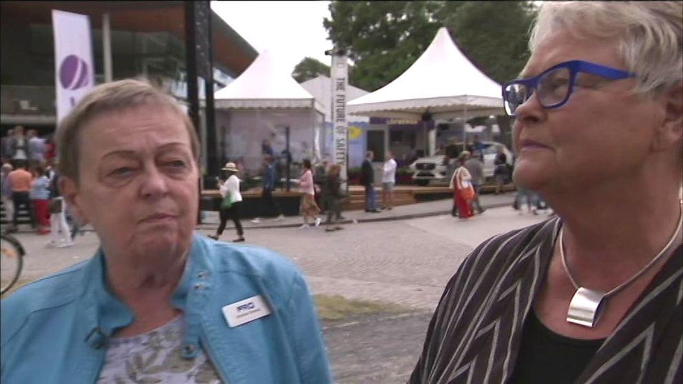 Christina Tallberg, ordf PRO och Eva Eriksson, SPF Seniorerna.