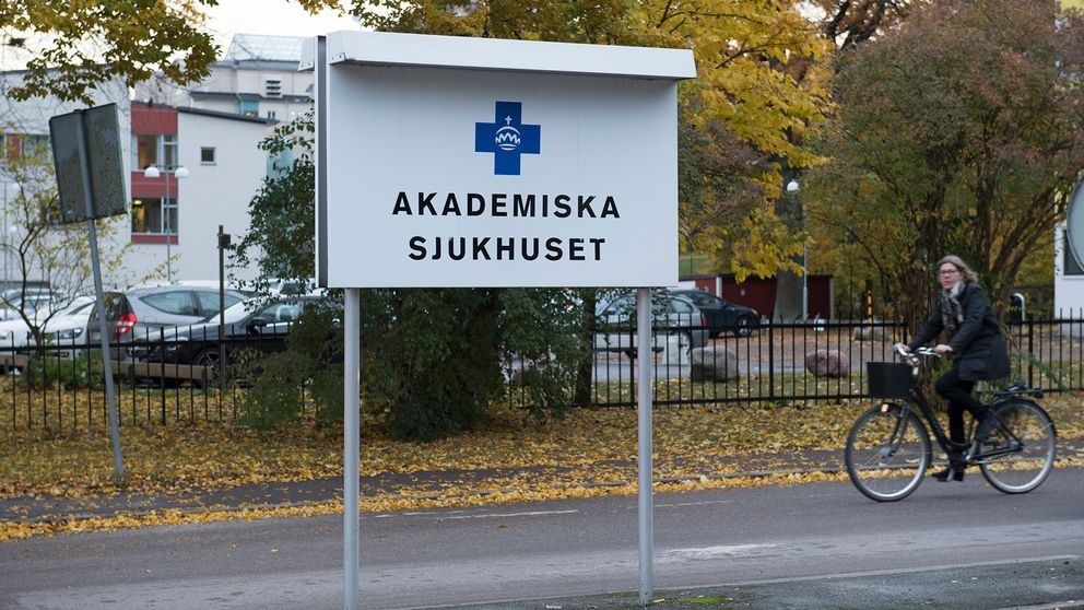 En skylt med Akademiska sjukhuset.