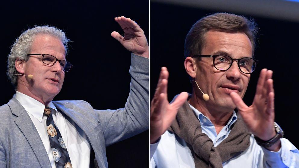 Michael C Burda, professor i ekonomi vid Humboldt-universitetet i Berlin och Ulf Kristersson (M), ekonomisk-politisk talesperson