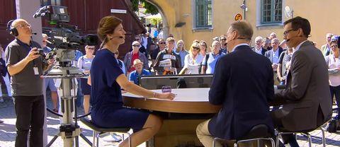Cecilia Gralde intervjuar Mats Knutson och Love Benigh på SVT:s scen i Almedalen.