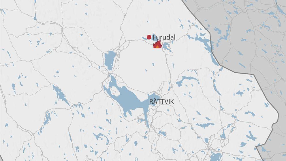 furudal dalarna karta Befarad skogsbrand i Furudal | SVT Nyheter furudal dalarna karta