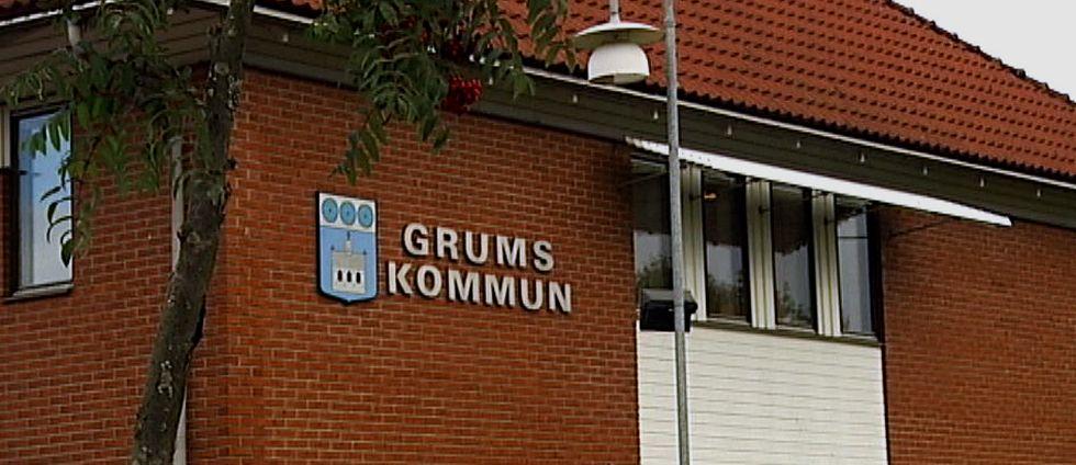 Fasad kommunhuset i Grums