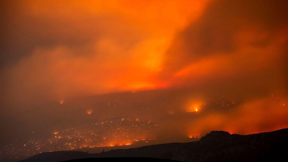 Rasande bränder British Columbia i västra Kanada.