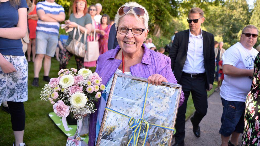 Laila Nilsson, från Broby, ville fira kronprinsessan.