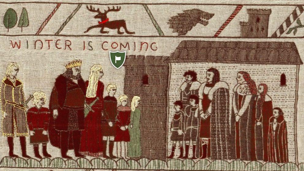 Game of Thrones skildras på irländsk väv.