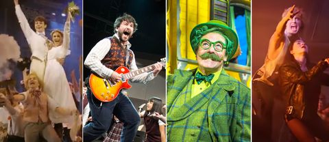 Bilder från Half a sixpence, School of rock, The wind in the willows och Bat out of hell.