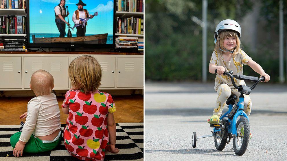 Fyraåringar i Sverige rör sig för lite enligt en studie vid Karolinska sjukhuset.