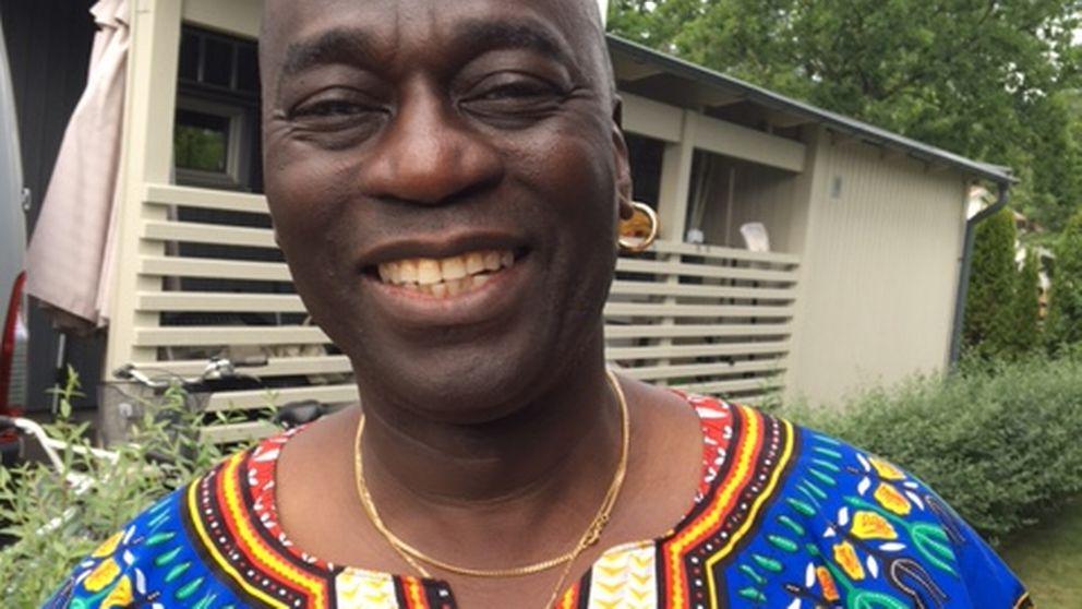 Ebou Badjie, ordförande i gambiska föreningen i Uppsala.