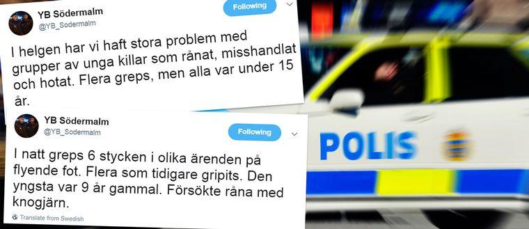 YB Södermalm berättade om händelserna i en rad tweets