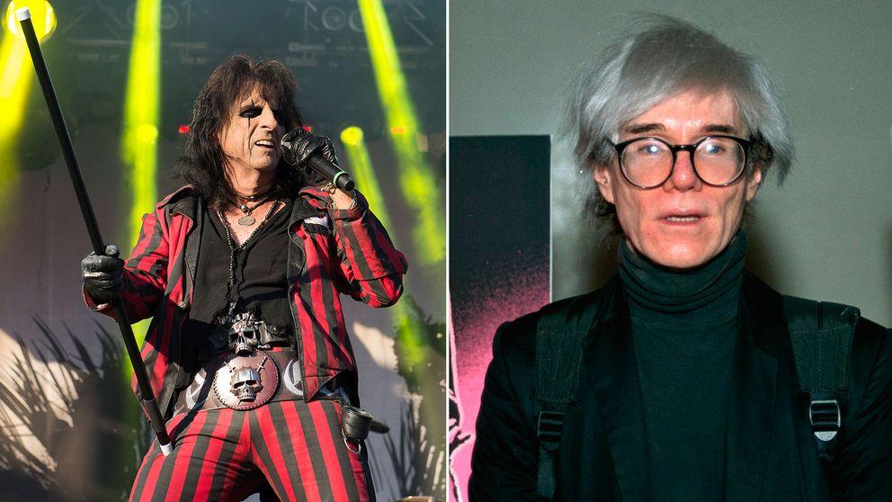 Alice Cooper och Andy Warhol träffades på en Cooper-konsert i New York 1972.