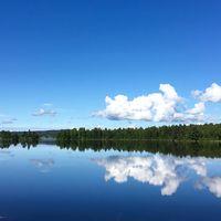 Vackert väder i Grangärde, Dalarna